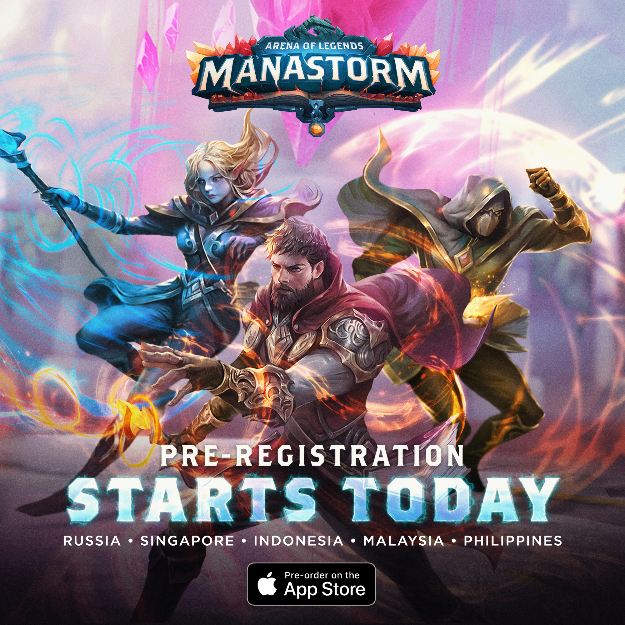 Pre-registration for Manastorm: Arena of Legends starts today!