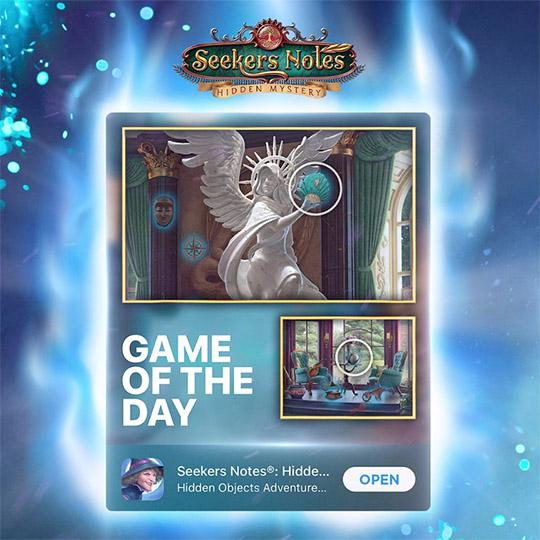 SEEKERS NOTES - GAME OF THE DAY FEATURING