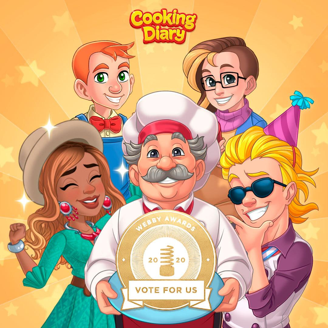 Cooking Diary has been nominated for the 2020 Webby Awards!