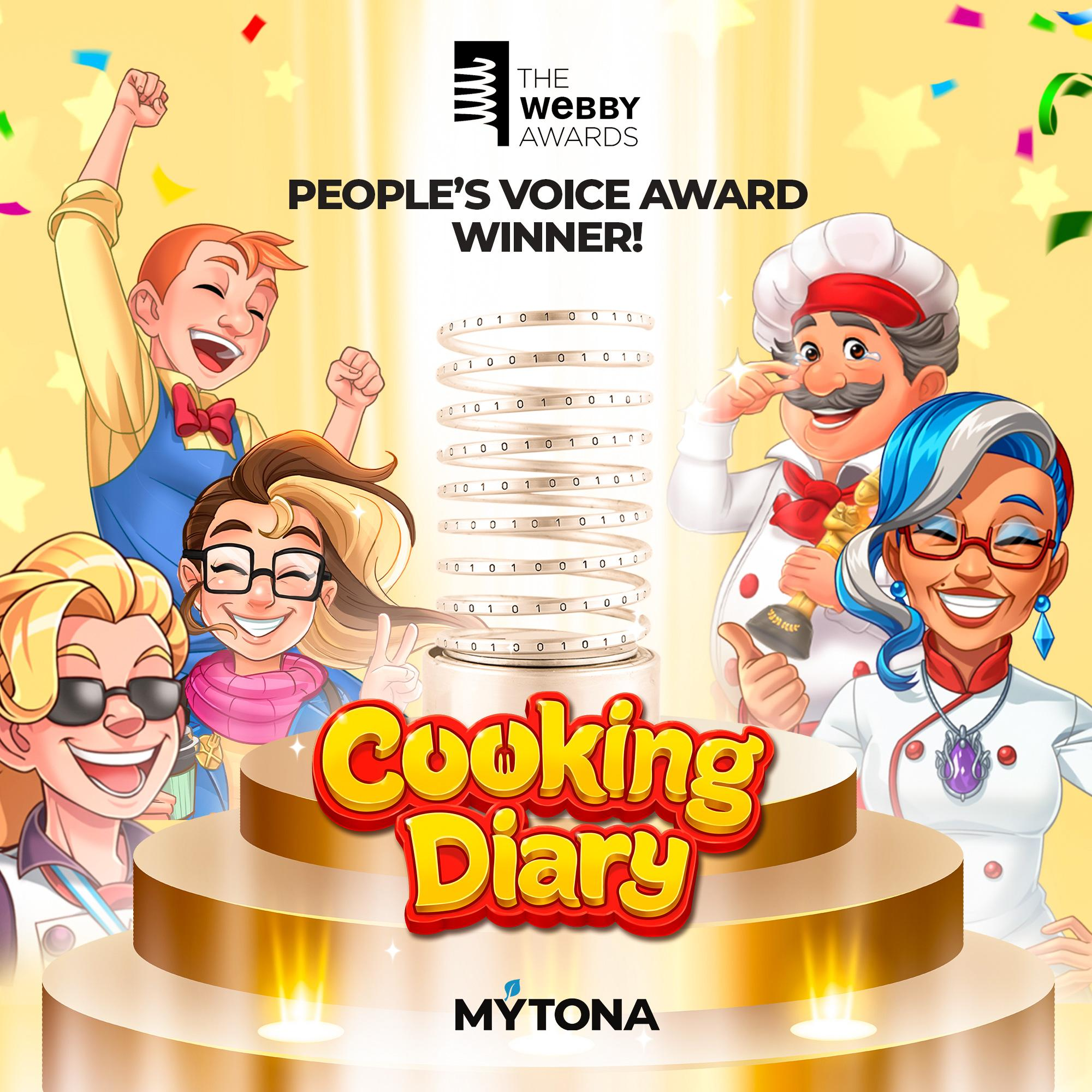 Cooking Diary Receives People's Voice Award at the Webby Awards 2020!