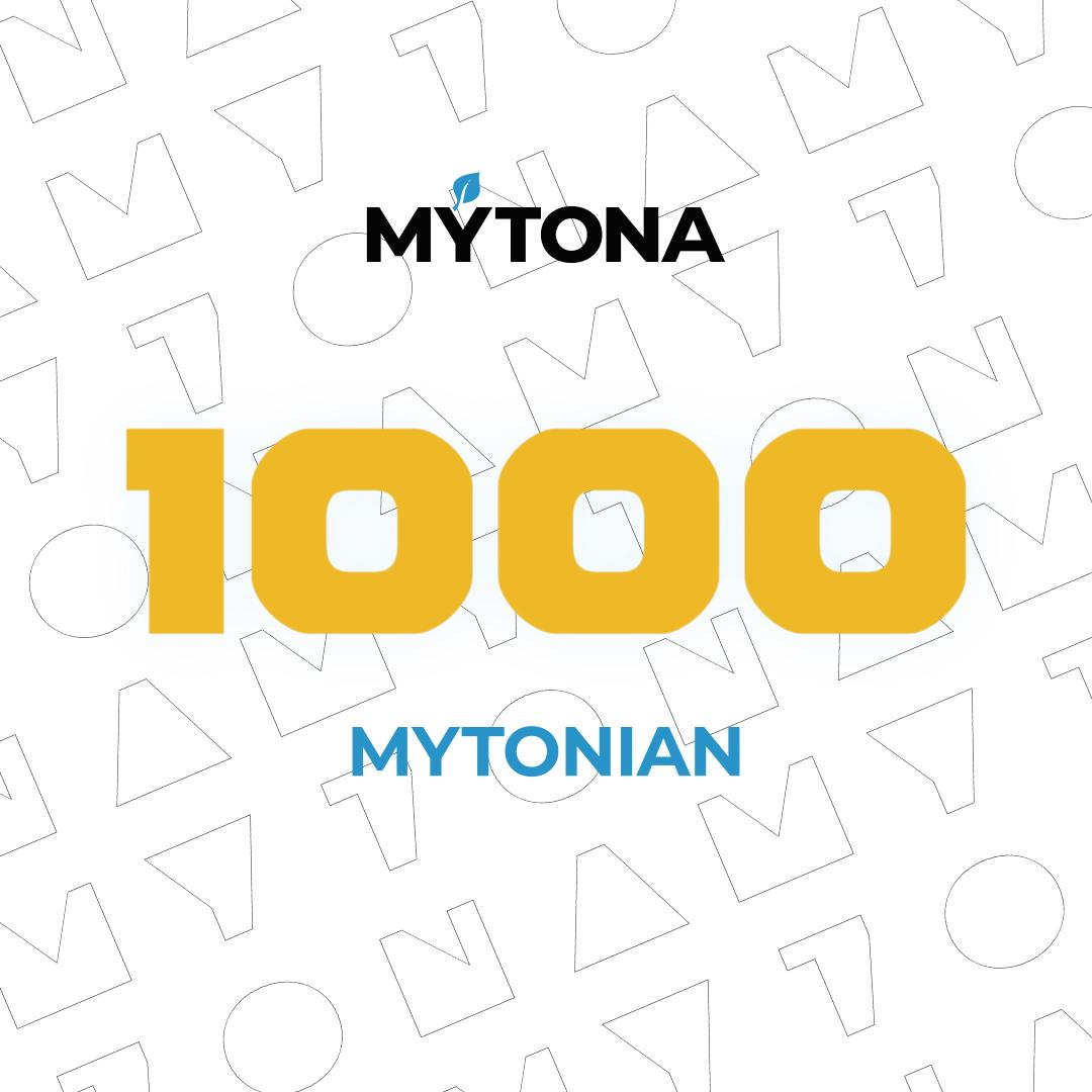 The 1000th mytonian in our team!